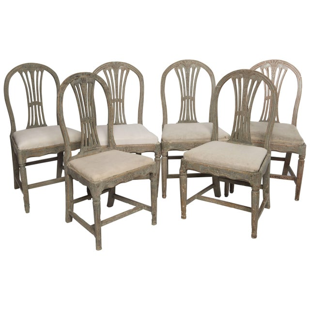Set of Six Gustavian Chairs For Sale - Image 9 of 9