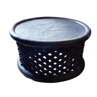 "African Bamileke Spider Stool/Table 30.5"" D For Sale"