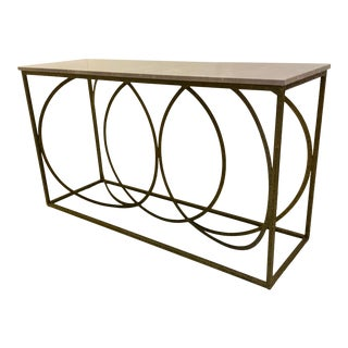 Modern Interlocking Circles Console Table For Sale