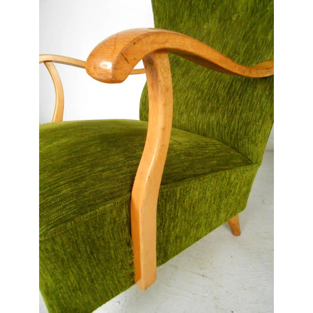 Mid-Century Modern High Back Lounge Chairs - A Pair For Sale - Image 9 of 11