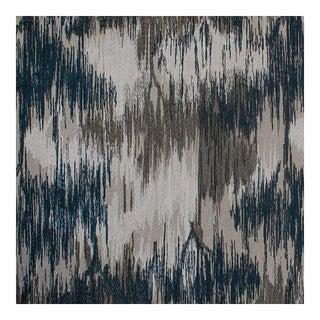 Bargello Oyster/Danish Blue Silk Linen Fabric - 1 Yard For Sale