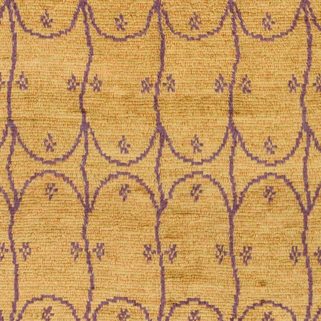 Mid 20th Century Mid 20th Century Swedish Handwoven Pile Rug- 9′7″ × 11′10″ For Sale - Image 5 of 6