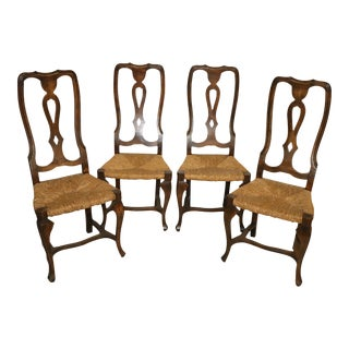 French Chairs With Rush Seats - Set of 4 For Sale