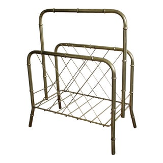 Hollywood Regency Magazine Rack For Sale