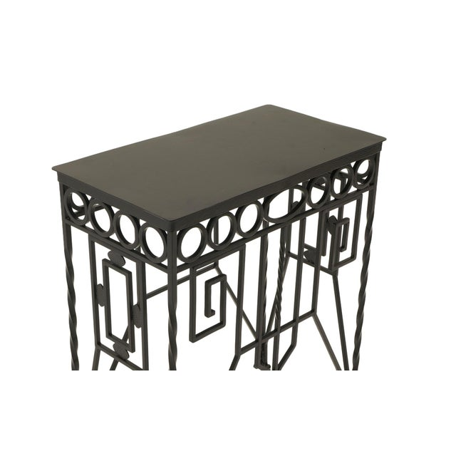 Arts & Crafts Arts & Crafts Wrought Iron Console Table For Sale - Image 3 of 7