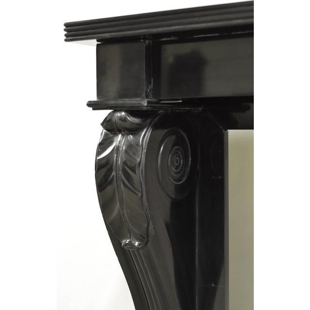 Napoleon III Fireplace Mantel Executed in Black Marble, 19th Century For Sale - Image 4 of 8
