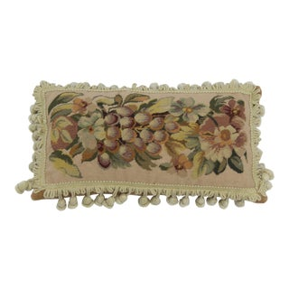 19th Century Needle Point Down Lumbar Pillow For Sale