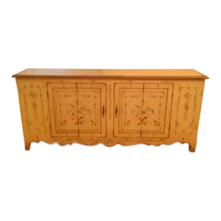 Venetian Decorated Polychrome Credenza