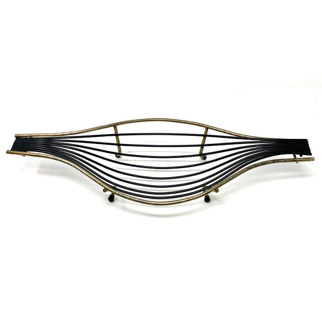 Black Mid-Century Sculptural Wire Bowl For Sale - Image 8 of 8