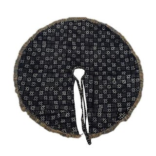 African Mud Cloth Christmas Tree Skirt For Sale