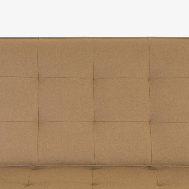 Florence Knoll Sofa in Camel Wool Flannel For Sale - Image 5 of 8