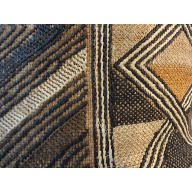 African Embroidered Kuba Textile Pillow - Image 5 of 7