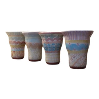 MacKenzie Childs Never Used Tumblers/Vases/Mugs - Set of 4 For Sale