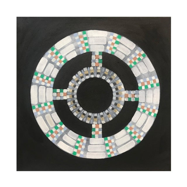 Natasha Mistry Contemporary Black Oil Paintings - Set of 3 For Sale In Denver - Image 6 of 11