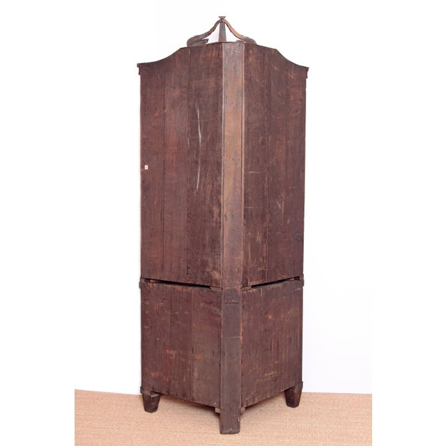 Georgian 18th Century Continental Mahogany Corner Cabinet For Sale - Image 3 of 10