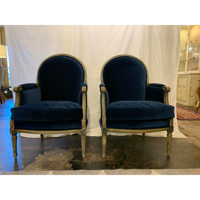 Louis XVI Style Bergères a Pair For Sale - Image 13 of 13