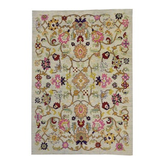 "New Colorful Turkish Oushak Rug with Modern Contemporary Style - 10'3"" X 14'7"" For Sale"