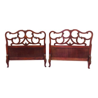 Pair Antique French Style Twin Beds For Sale