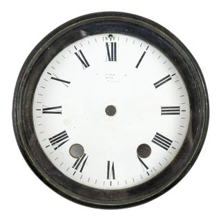 Antique Clock Face Under Glass For Sale