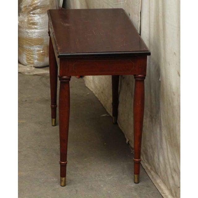 Wood Vintage Flip Top Storage Table For Sale - Image 7 of 10