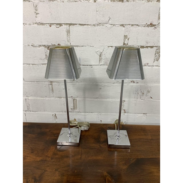 """Silver Vintage """"Igor Paris"""" Table Lamps - a Pair For Sale - Image 8 of 13"""