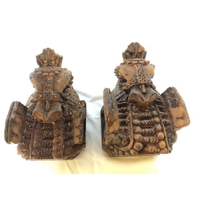 19th Century Antique Carved Wood Horse Corbels - a Pair For Sale - Image 5 of 5