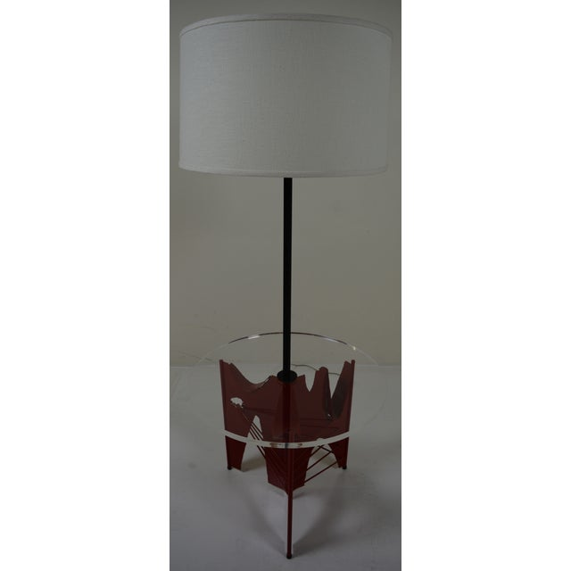 Harry Balmer Brutalist Floor Lamp With Table - Image 8 of 10