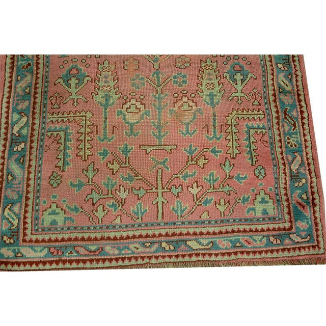 Antique Decorative Turkish Oushak Rug - 4' x 6' - Image 2 of 4