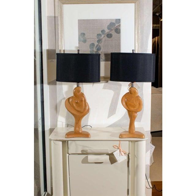 Yasha Heifetz Fantastic Sculptural Pair of Heifetz Lamps For Sale - Image 4 of 10