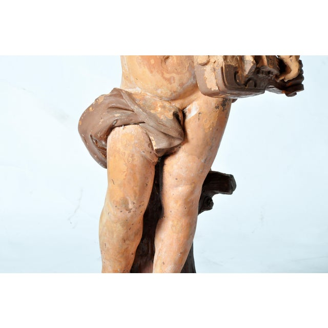 French Terracotta Figure of a Boy For Sale - Image 10 of 11