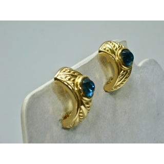Christian Dior Blue Sapphire Clip Back Earrings Preview