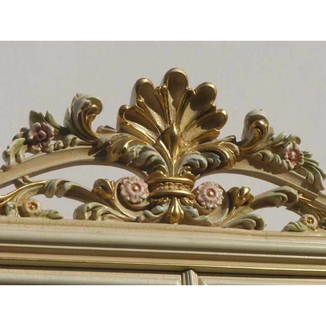 Vintage Off White Ornate Venetian China Cabinet - Image 7 of 11