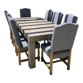 Cross Dining Table and Madrid Chairs For Sale