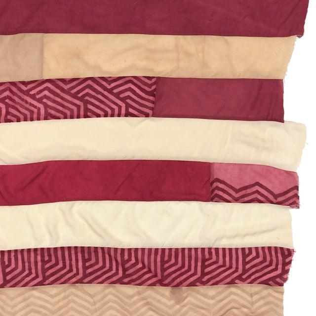Folk Art Handmade Silk Shibori Flag For Sale - Image 4 of 5
