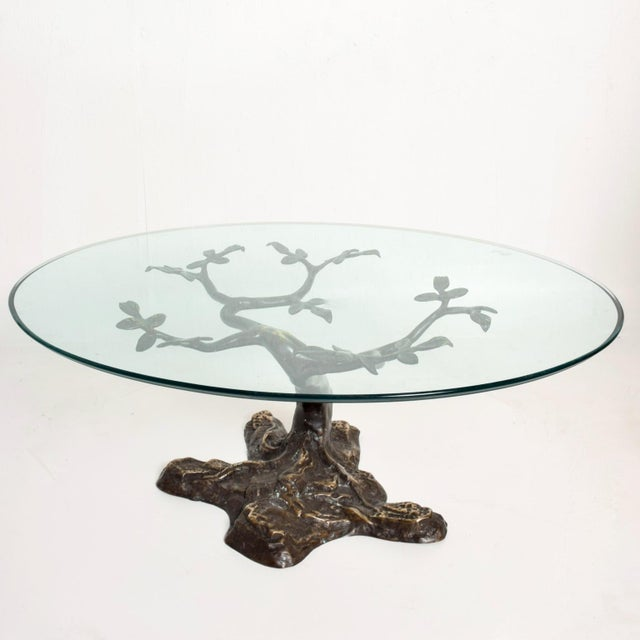 Metal Willy Daro Mid-Century Contemporary Bronze Bonsai Tree Coffee Table For Sale - Image 7 of 9