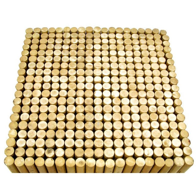 1970s Reeded Bamboo Cube and Glass End Table For Sale - Image 5 of 6