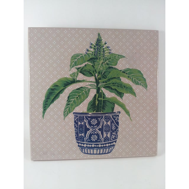 Italian Plant in Jardiniere Tiles -A Pair - Image 3 of 6