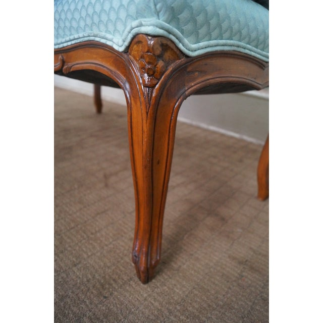 Vintage French Louis XV Style Window Bench For Sale - Image 5 of 10