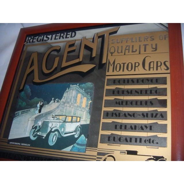English Pub Mirror Advertising Motor Cars - Image 3 of 5