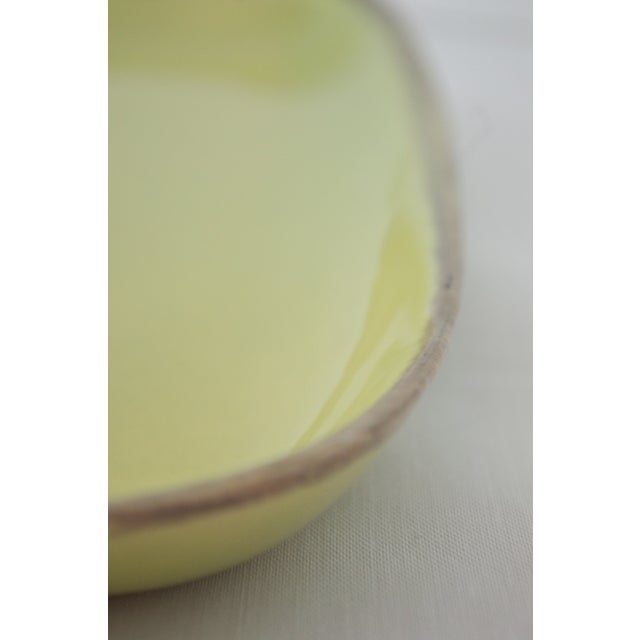 "Mid-Century Modern Winfield Pasadena Chartreuse 14"" Square Platter For Sale - Image 3 of 7"