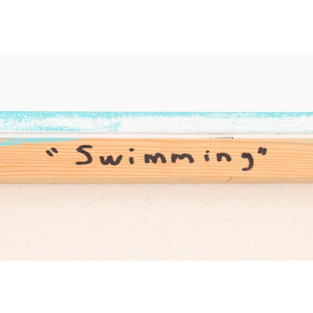 "Blue Maura Segal, ""Swimming"" For Sale - Image 8 of 9"
