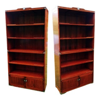 Starbay Rosewood Marco Polo Bookshelf Bookshelves - a Pair For Sale