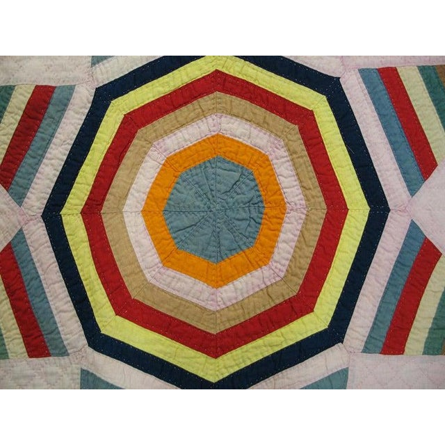 "Antique American Quilt Blanket 6'4"" x6'4"""