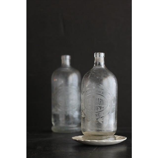 Vintage French Etched Lemonade Bottle For Sale - Image 4 of 4