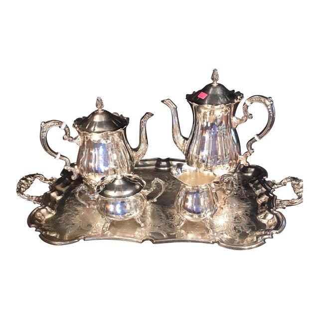 Leonard Silver Plate Tea/Coffee Set - 5 Pieces | Chairish