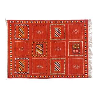 "Berber Tribal Rug-3'5'x4'7"" For Sale"