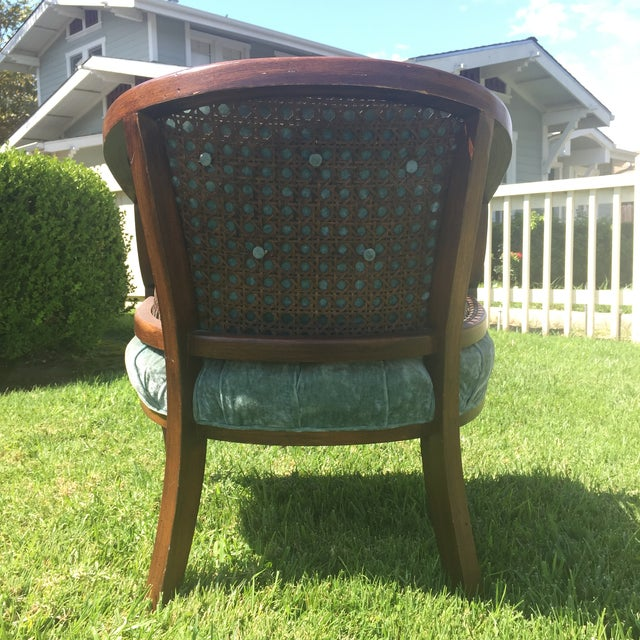 Mid-Century Cane Barrel Chair - Image 6 of 11