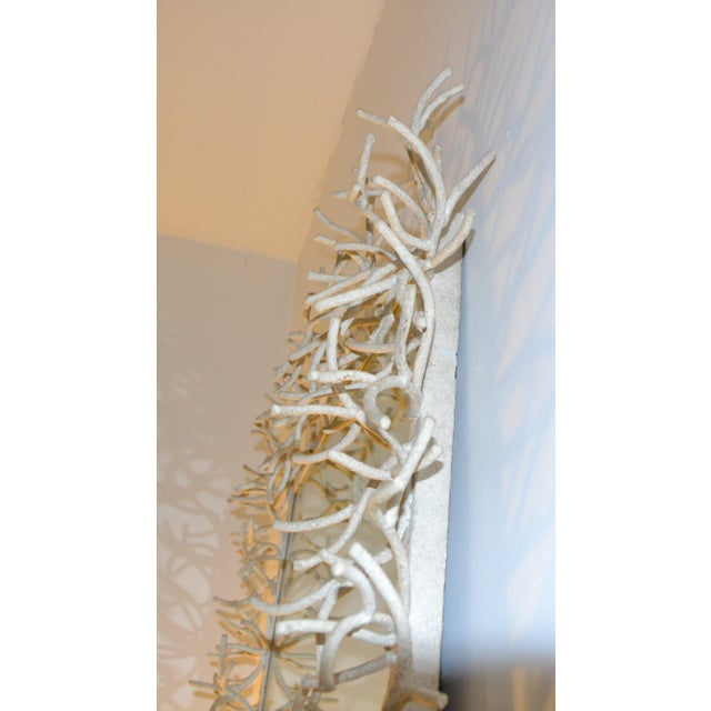 Contemporary Faux-Coral Wall Mirror For Sale - Image 3 of 6