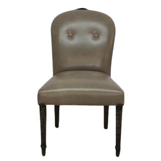 Gray Leather Dining Chair For Sale