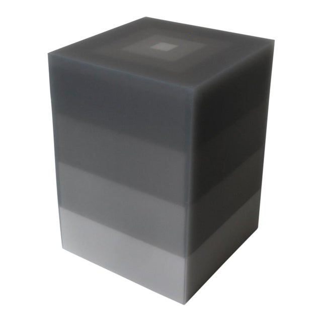 """""""Side Table, Scale, Gray"""" Resin, Wood, 2018 For Sale"""